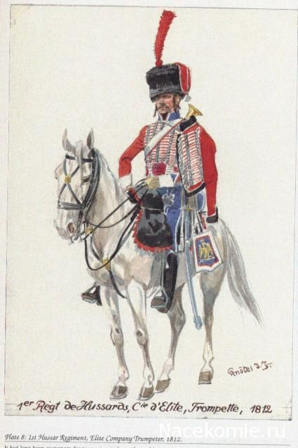 1er Régiment de Hussards, Cie d'Elite, Trompette 1812