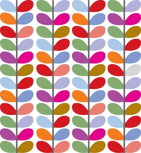 Leaf Pattern Colorful Public Domain