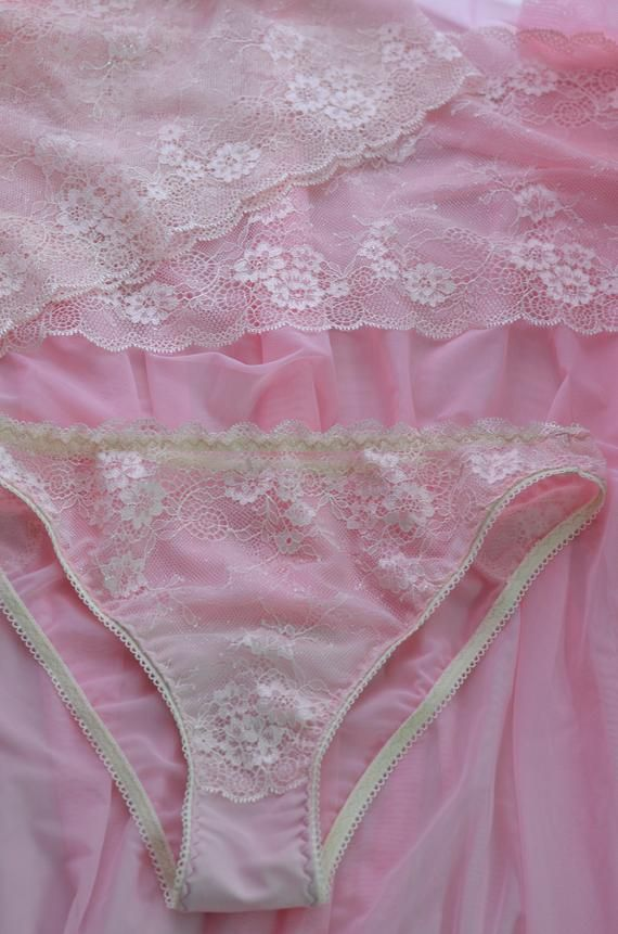 5f3288bc38f6 Women Sleepwear & Intimates Panties Handmade Lingerie The Romantic Lacey  Pink Bridal Panties MADE TO