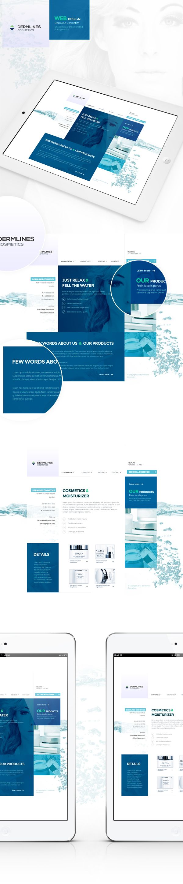 Web design for Cosmetics Industry by Katarzyna Dalkowska, via Behance