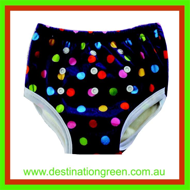 Reusable Training Pants - purple spots, $8.50