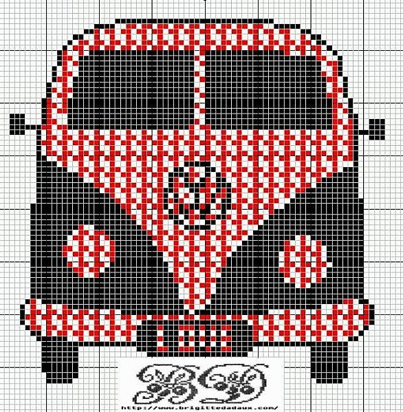 free cross stitch patterns - vintage transportation