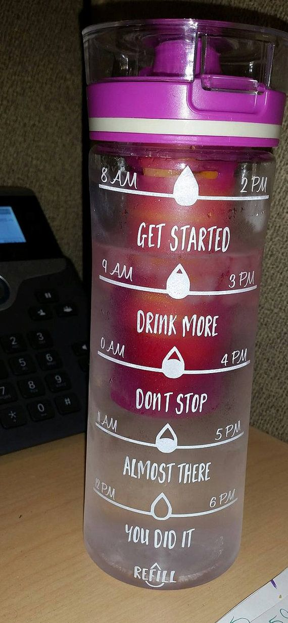 Check out this item in my Etsy shop https://www.etsy.com/listing/244303178/motivational-water-bottle-personalized