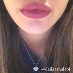"My lips in Mac ""Half Red"" lip liner and Mac ""Captive"" lipstick @daliaashalabi"