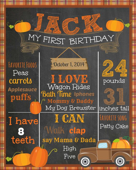 Fall First Birthday Chalkboard Pumpkin Patch by themilkandcreamco