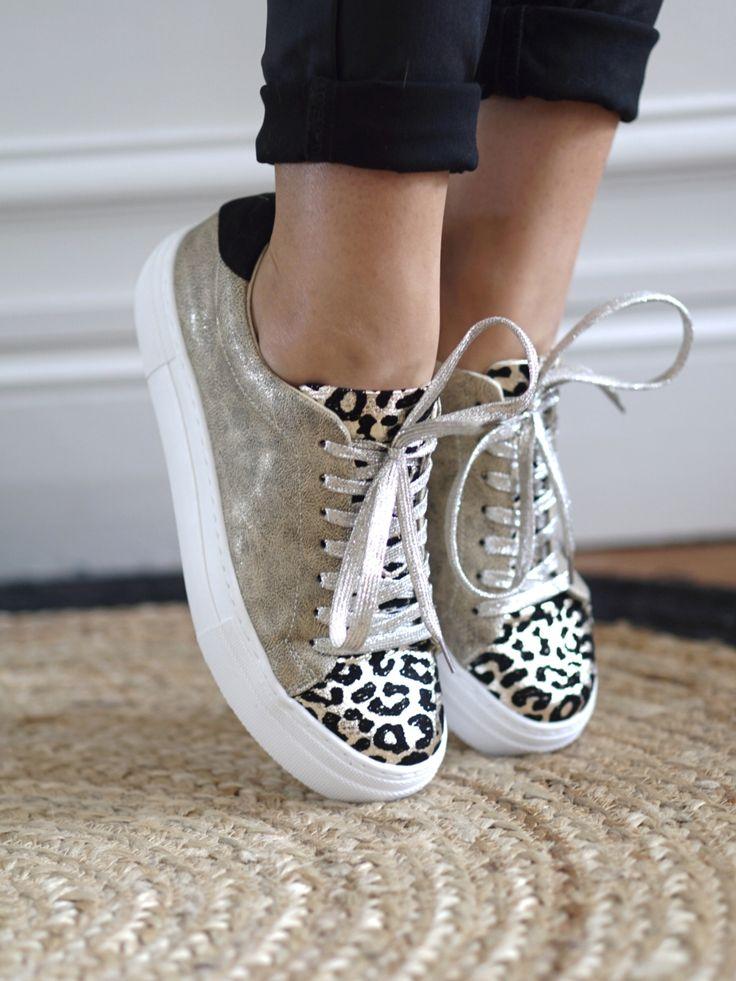 Vanessa Wu – Baskets léopard – Beige   Chaussures ...