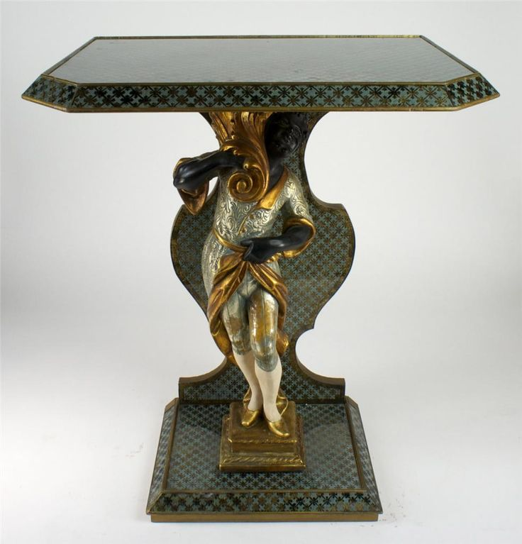 Venetian Blackamoor Eglomise Table Lovely Antiques