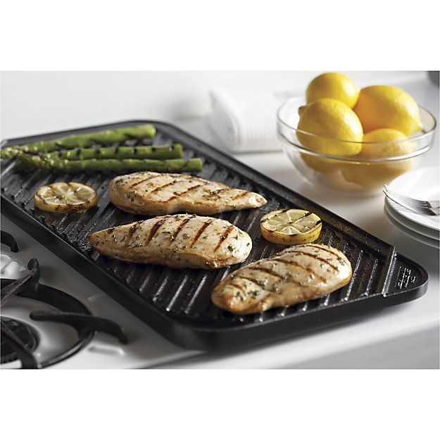 Reversible Ceramic Double Griddle | Crate and Barrel