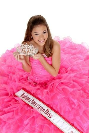 """Reagan Spoltman NAM pageant. Love the dress I call it """"Pinkaliciousness"""""""