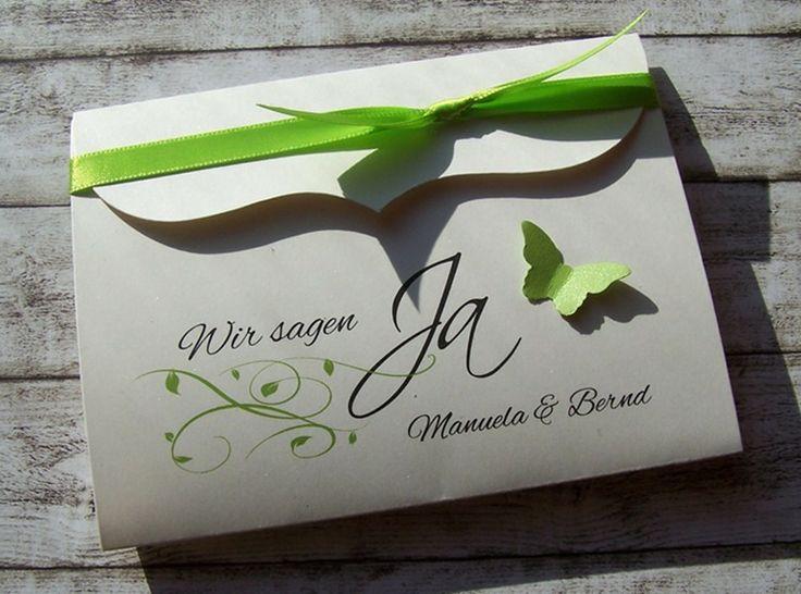 Besondere Einladungskarte Maigrün Von Kartenmanufaktur Arndt