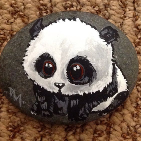 Painted Panda Rock: