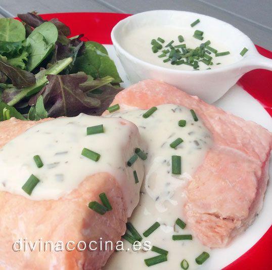 Salmón al vapor con salsa muselina » Divina CocinaRecetas fáciles, cocina andaluza y del mundo. » Divina Cocina