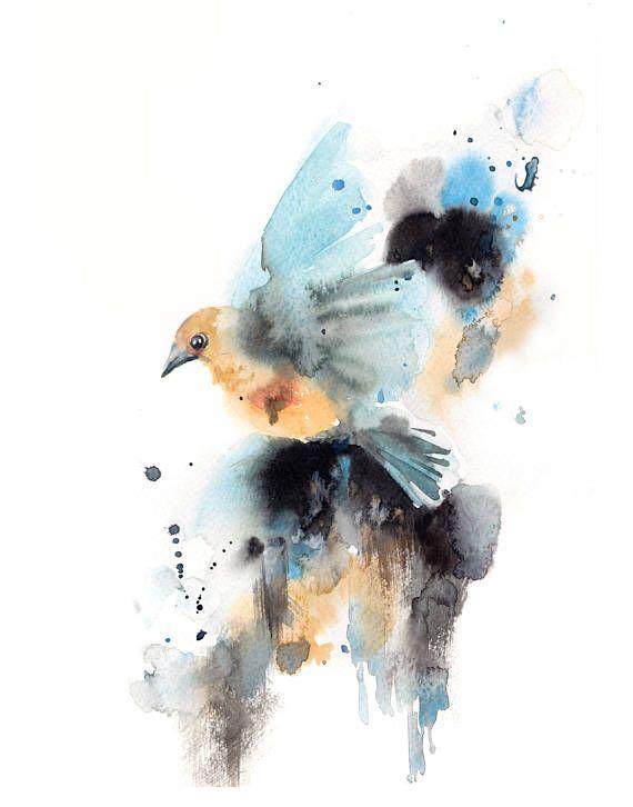 Art Print Set Bird Prints Set Set Of 2 Prints Watercolor Print
