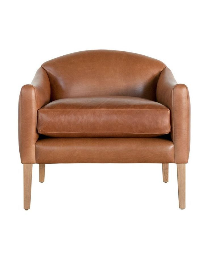 Linder Leather Arm Chair In 2020 Leather Armchair Armchair