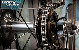 This picture was taken at Formby Cycles. We really like it