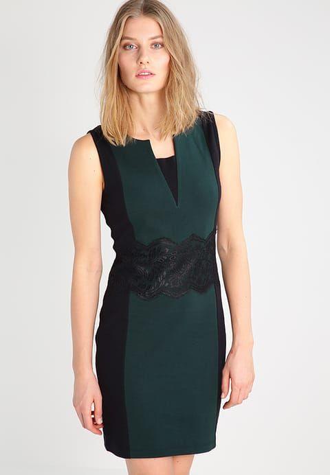 Anna Field Sukienka z dżerseju - black/scarab - Zalando.pl