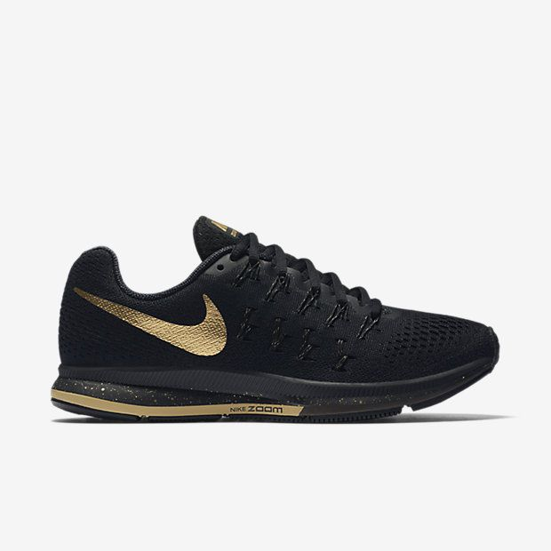 Women's Nike Pegasus running shoe – part of the Nike Black and Gold Pack…