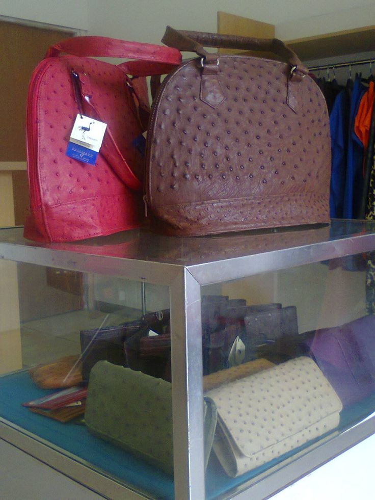 Quality and affordable ostrich leather products available at Lornajsmine Designs.