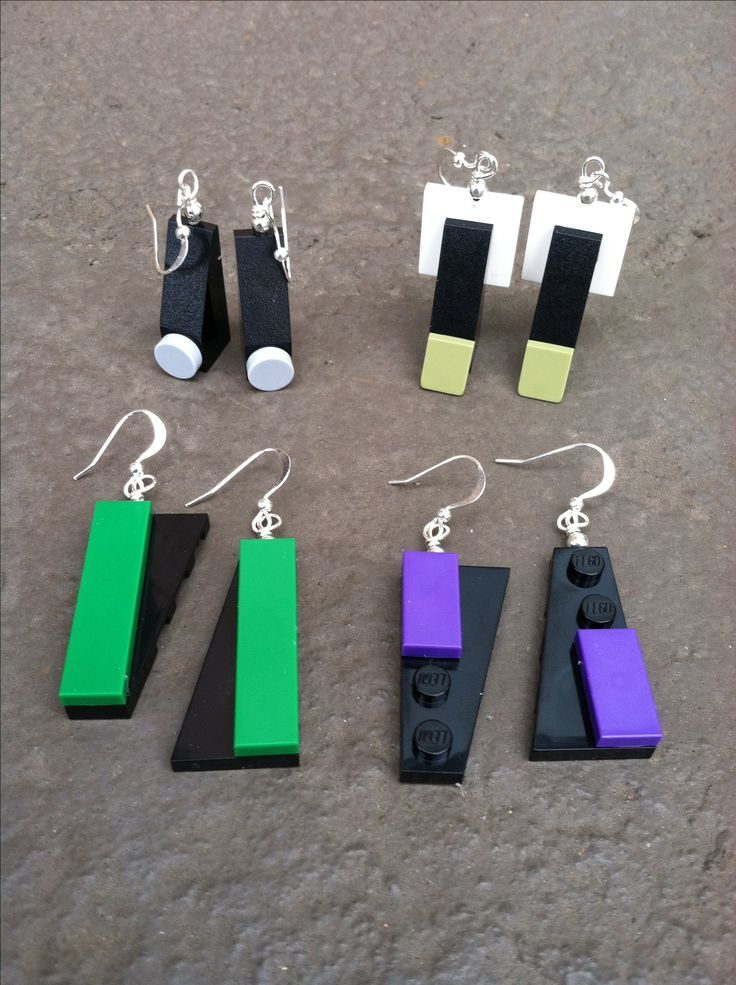 Lego earrings - I know that I already have a pair, but it's so small