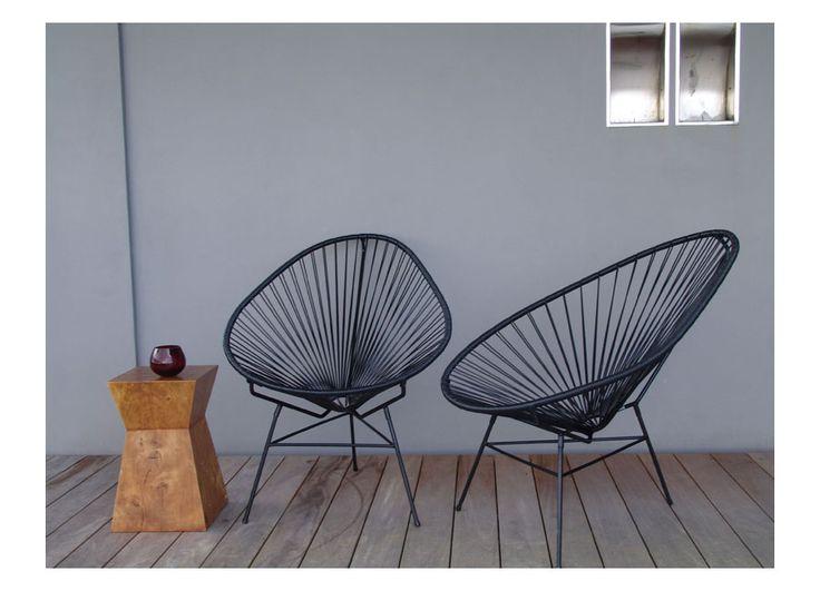 Innit Designs Acapulco Chair, Cactus on Chrome Frame: Patio, Lawn & Garden