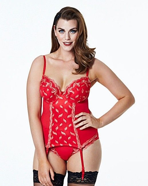 2a4a0c3dc Shapely Figures Ava Plunge Basque Red Size 36 E LF083 AA 16  fashion   clothing  shoes  accessories  womensclothing  intimatessleep (ebay link)