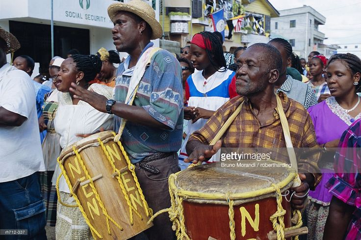 : Garifuna Settlement Day, Garifuna festival, Dangriga, Belize, Central America