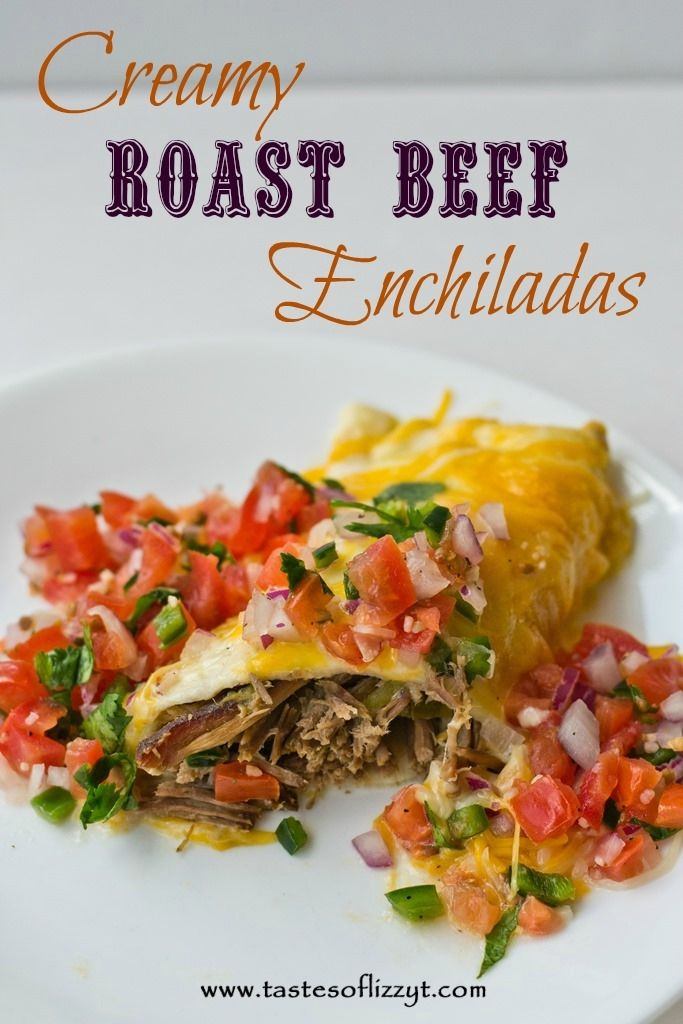 Creamy Roast Beef Enchiladas Recipe ~ Says: This recipe is easy adaptable to your liking by using whatever kind of meat is your favorite.