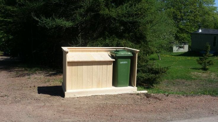 1000 Images About Garbage Can Shed On Pinterest: 27 Best Images About Garbage Bin Designs On Pinterest