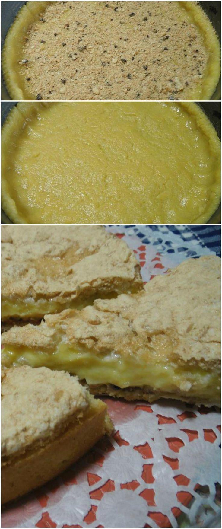 Crostata alla crema meringata, super golosa !! #crostata #ricettegustose