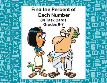 This product has 84 task cards to provide practice in determining the percent of a number and rounding the answer to the nearest tenth. It has a fun historical character theme.  The student worksheet and answer key are included.  Addresses  CCSS.MATH.CONTENT.6.RP.A.3.C
