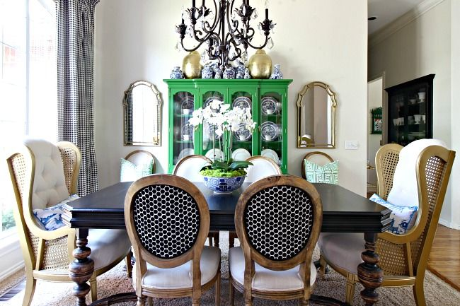 Colorful Eclectic Dining Room  ||  Dimples and Tangles