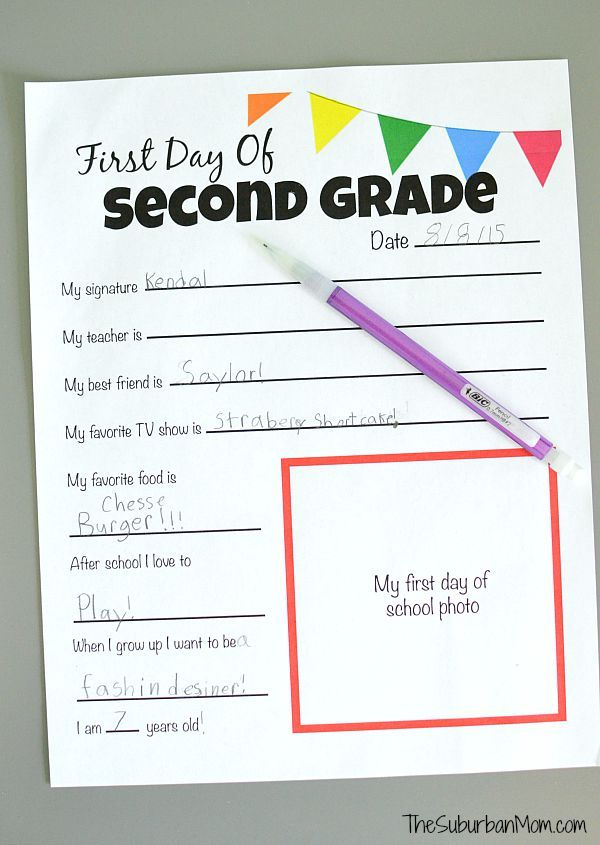 rudy project sunglasses All About Me Free Printable   First Day Of School Tradition