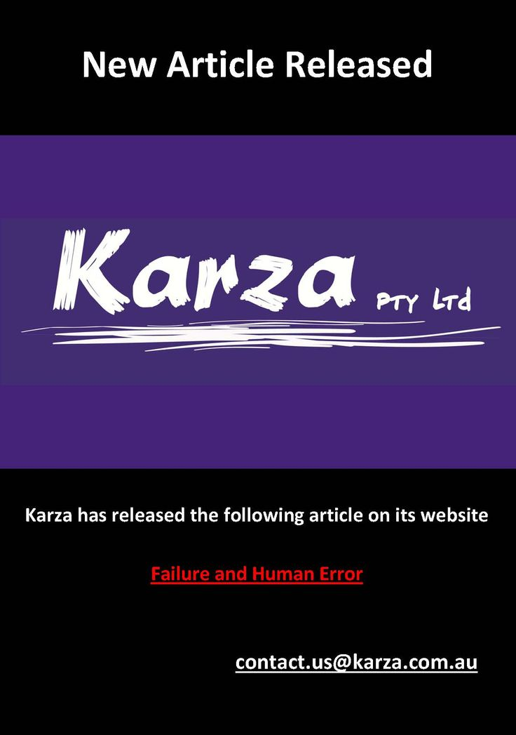 Karza has released the following article on its website  Failure and Human Error