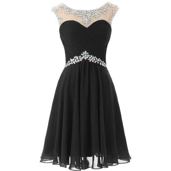 Dresstells Short Prom Dresses Sexy Homecoming Dress for Juniors... ($88) ❤ liked on Polyvore