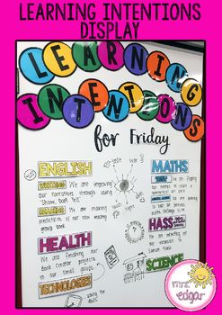 A free learning intentions display. I use this display to write my daily…