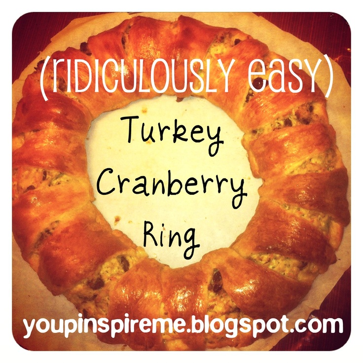 Turkey cranberry ring turkey leftovers from thanksgiving for What to serve with thanksgiving turkey