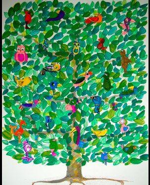 back to school bulletin boardsTrees Kids, School, Bulletin, Apple Tree Art, Trees Collaborative, Colors Trees, Birds, Piece, Boards