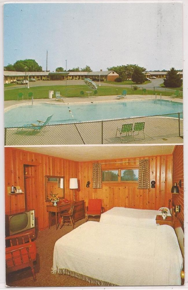Salisbury Maryland Postcard Lord Motel W Room Interior View C1950s