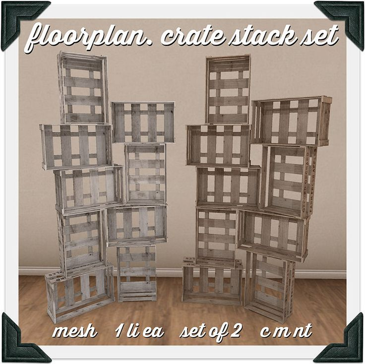 floorplan. crate stack set