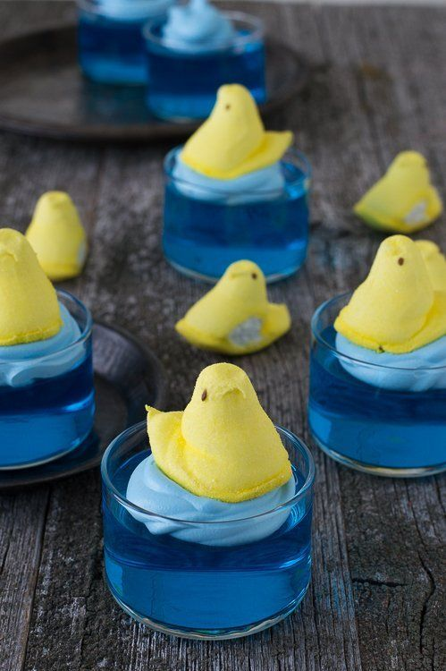 Swimming Peeps Jello Cups @FoodBlogs