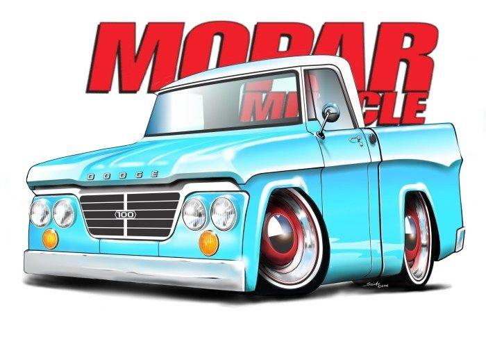 1963 Dodge D100 Pickup Truck Stefan S Auto Art Truck Art Cartoon Car Drawing Car Cartoon