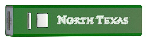 University of North Texas  Portable Cell Phone 2600 mAh Power Bank Charger  Green >>> Read more reviews of the product by visiting the link on the image.