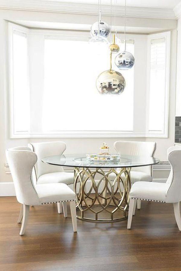 die besten 25+ glass round dining table ideen auf pinterest, Esstisch ideennn
