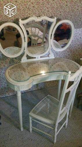 34 best meuble coiffeuse images on Pinterest Dressing tables - meuble coiffeuse avec miroir pas cher