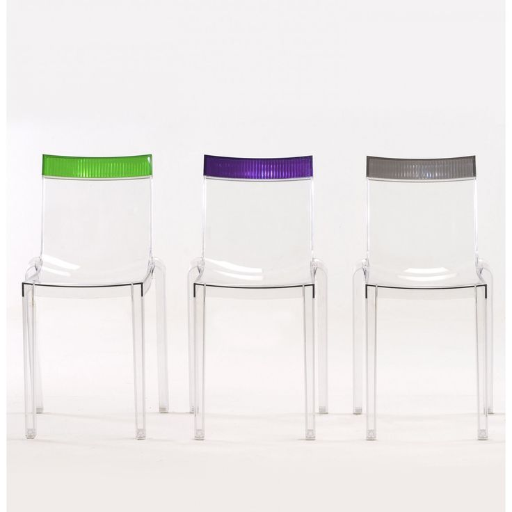 Hi-Cut stackable chair by Kartell designed by Philippe Starck