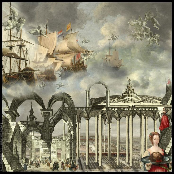 Twitter / Artvertisements: This work is a compilation of artworks from the Rijksmuseum Amsterdam. Check artvertisements.com for more!