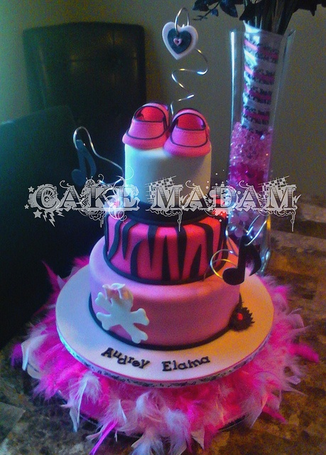 Punk Rock Baby Shower cake (Front view) by Cake Madam, via Flickr
