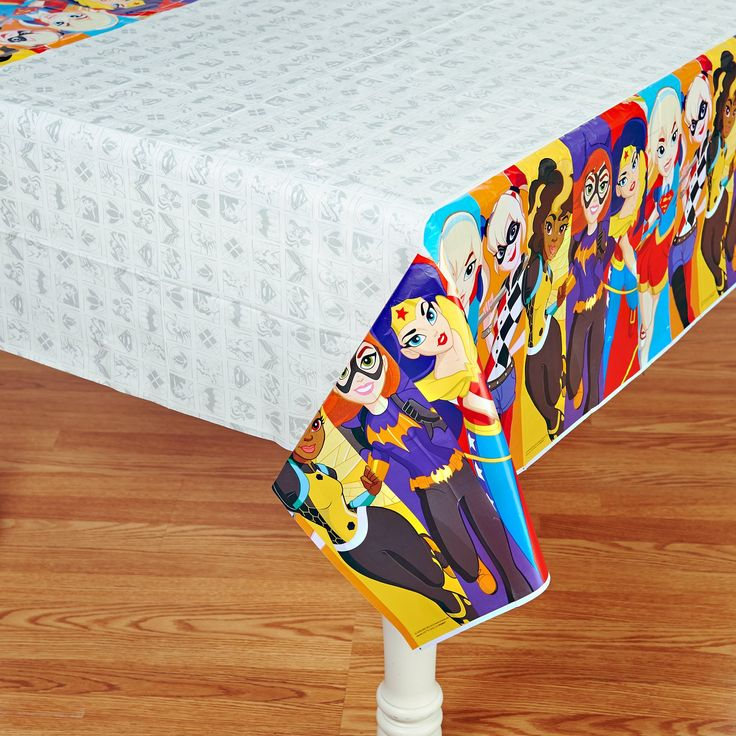 DC Super Hero Girls Printed Tablecover from BirthdayExpress.com