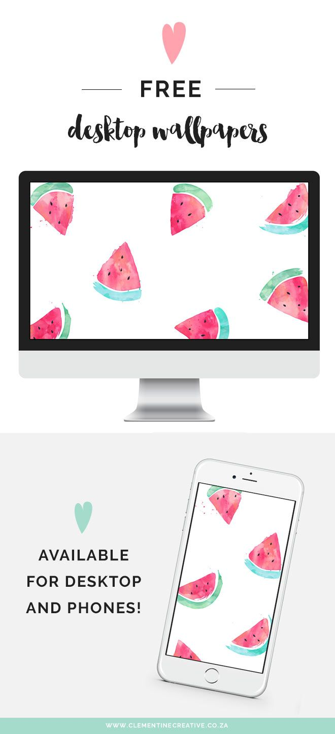 Free Desktop Wallpaper: Watermelons - Clementine Creative | DIY Printable Stationery