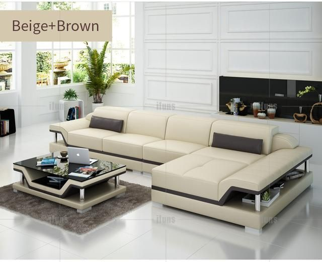 Ifuns Chaise Sofa Set Living Home Furniture Modern Design Genuine